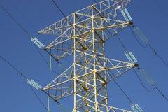 Pilón de la electricidad en México Imagenes de archivo