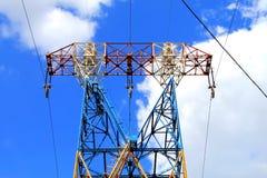 Pilón de la electricidad, línea eléctrica Fotografía de archivo libre de regalías