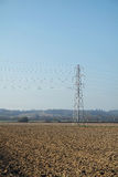 Pilón de la electricidad/torre de la transmisión Foto de archivo libre de regalías
