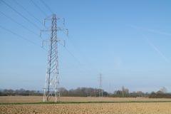 Pilón de la electricidad/torre de la transmisión Fotografía de archivo