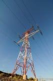 Pilón del poder de la electricidad Fotos de archivo