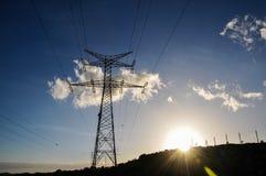 Pilón del poder de la electricidad Imagen de archivo libre de regalías