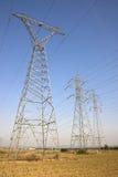Pilões da eletricidade Fotografia de Stock Royalty Free