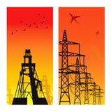 Pilões da eletricidade Imagem de Stock