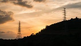 Pilões da eletricidade Fotos de Stock Royalty Free