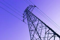 Pilões da eletricidade do metal Imagens de Stock