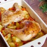 Pilões de frango assado Foto de Stock Royalty Free