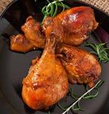 Pilões de galinha cozidos foto de stock