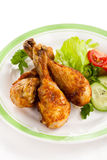 Pilões de galinha Roasted foto de stock