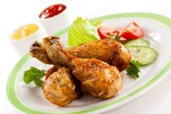 Pilões de galinha Roasted fotos de stock