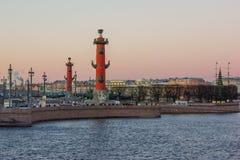 Pil av den Vasilievsky ön arkivbilder