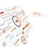 Pil för abstrakt bakgrund för baner digital, grafisk design för innovativt begrepp royaltyfri illustrationer