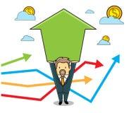 Pil för pengaraffärsman Vektor Illustrationer