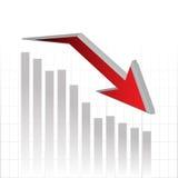 Pil för vektorgrafdiagram för affärsstrategi Arkivfoton