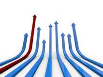 Pil-formad graf royaltyfri fotografi