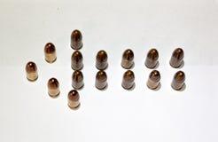 Pil från ammo Arkivbild