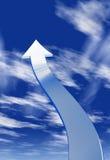Pil i skyen Fotografering för Bildbyråer