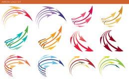 Pil Logo Set royaltyfri illustrationer