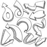 Pil- och riktningssymbolssamling Royaltyfri Bild