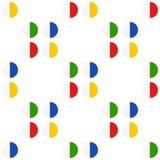 Pil of Tablet Vlak Pictogram Naadloos Patroon stock illustratie