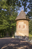 Pil Tower and Voronikhinsky Bridge in Pavlovsk Park Saint-Peters Royalty Free Stock Images