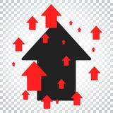Pil upp vektorsymbol Framåt pilteckenillustration Affär Arkivfoto