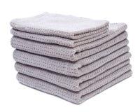 Pila, acción de las toallas de baño orgánicas gruesas del algodón Imagenes de archivo