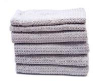 Pila, acción de las toallas de baño orgánicas gruesas del algodón Imágenes de archivo libres de regalías