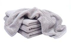 Pila, acción de las toallas de baño orgánicas gruesas del algodón Fotos de archivo