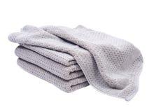 Pila, acción de las toallas de baño orgánicas gruesas del algodón Imagen de archivo libre de regalías