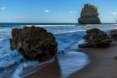 Pila ai punti di Gibsons, dodici apostoli, porto Campbell, Victoria, Australia del mare fotografia stock libera da diritti