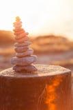 Pila alta di pietre Fotografia Stock