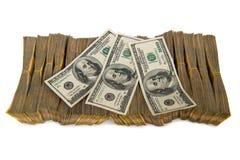 Pila americana del dólar aislada Foto de archivo libre de regalías