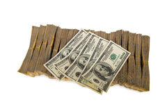 Pila americana del dollaro fotografie stock