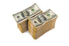 Pila americana del dollaro fotografia stock libera da diritti