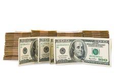 Pila americana del dollaro fotografie stock libere da diritti