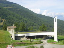 Pila Aosta 01. New church in Pila, Valle d'Aosta, Italy Royalty Free Stock Photo