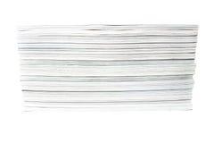 Pila bianca della rivista Fotografia Stock Libera da Diritti