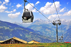 Pila cable car, Italy Royalty Free Stock Image