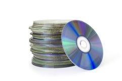 Pila CD Fotografia Stock Libera da Diritti