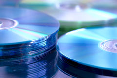 Pila cd azul Imagen de archivo