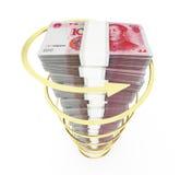 Pila china de la moneda Fotografía de archivo libre de regalías