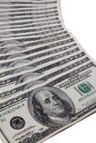Pila cientos dólar americano Foto de archivo libre de regalías