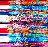 Pila colorata del tessuto di seta fotografia stock