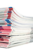 Pila coloreada de las revistas Fotografía de archivo