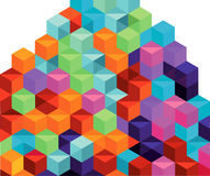 Pila colorida de rectángulos Imagenes de archivo
