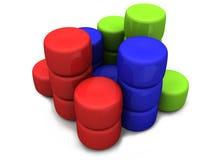 Pila colorida del cilindro Imagen de archivo