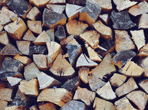 Pila con il legno del fuoco Immagine Stock Libera da Diritti