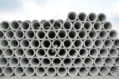 Pila concreta de los tubos Fotografía de archivo