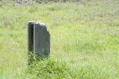 Pila concreta en la hierba verde de la hierba Foto de archivo